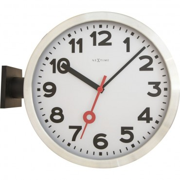 Station Double Wall Clock 38cm