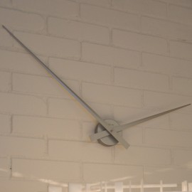 Plain Hands Silver Wall Clock 85cm