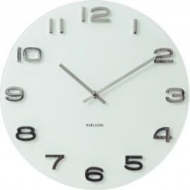 Vintage Round White Wall Clock 35cm
