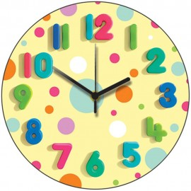 Spotty Lemon Wall Clock 28.5cm