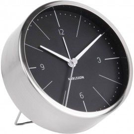 Normann Black Alarm Clock 10cm