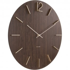 Meek Mdf Dark Wood Veneer Wall Clock 50cm