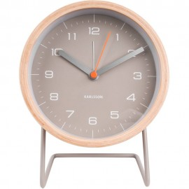 Innate XL Grey Alarm Clock 14cm