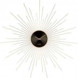Extreme Peony Steel Gold Wall Clock 95cm