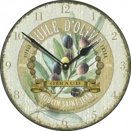 Large Huile D'Olive Antique Wall Clock 45cm