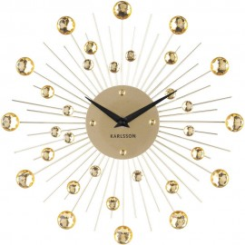 Sunburst Gold Wall Clock 30cm