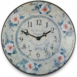 Floral Wall Clock 36cm