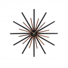Diva Black Walnut Painted Wall Clock 60cm