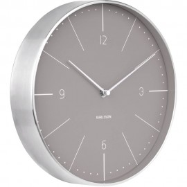 Normann Grey Wall Clock 27.5cm