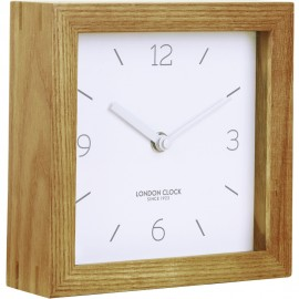 TID Wooden Mantel Clock 16cm