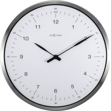 60 Minutes White Wall Clock 33cm