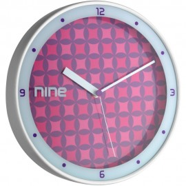 Pink Pattern Wall Clock 30.5cm