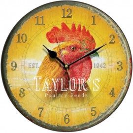 Taylor's Poultry Feed Cockerel Wall Clock 28.5cm