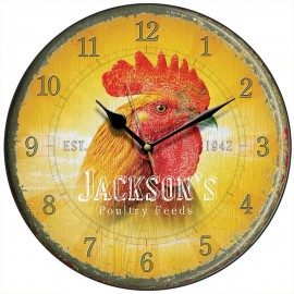 Jackson's Poultry Feed Cockerel Wall Clock 28.5cm