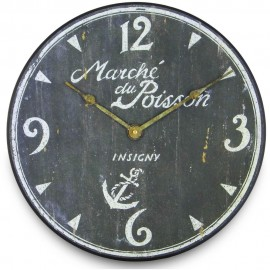 French Fish Market Wall Clock 36cm