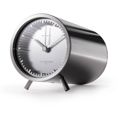 Stainless Steel Tube Table Clock 8cm