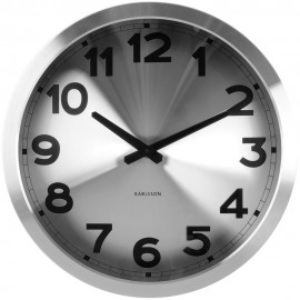 Silver Station Wall Clock 39.5cm