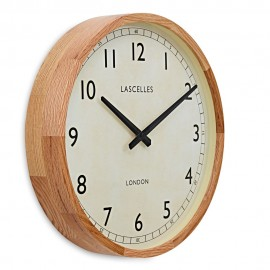 Lascelles Oak Cased Wall Clock 41.5cm