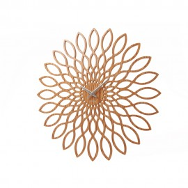 Sunflower Light Wood Wall Clock 60cm