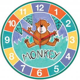 Perkins & Morely Jungle Friends Monkey Wall Clock 28.5cm