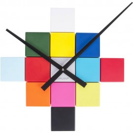 DIY Cubic Multicoloured Wall Clock