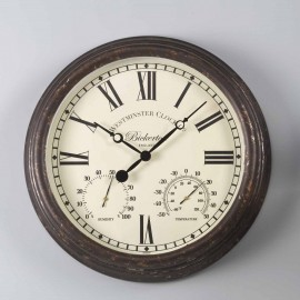 Bickerton Outdoor Wall Clock with Thermometer 38cm