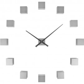 DIY Cubic Silver Wall Clock