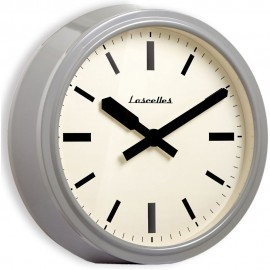 American Diner Deep Case Grey Wall Clock 36cm