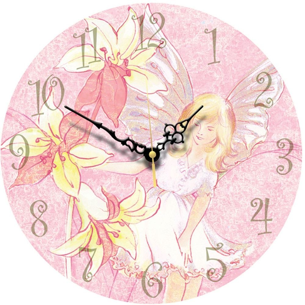 Childrens wall clocks large range of clocks for childern flower fairy wall clock 285cm amipublicfo Image collections