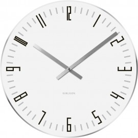 Slim Index White Table Clock 17cm