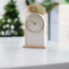 Verity Cream Mantel Clock 18.5cm