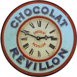 Chocolate Bistro Wall Clock 36cm