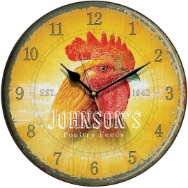 Johnson's Poultry Feed Cockerel Wall Clock 28.5cm