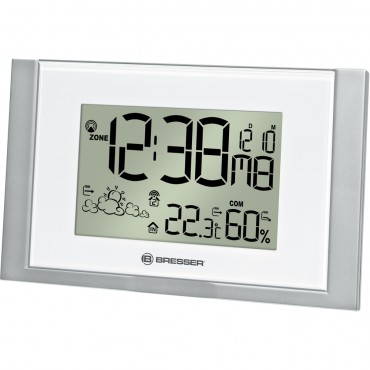 Bresser Radio Controlled Wall Clock with Weather Forecast 22.3cm