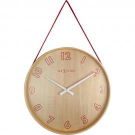 Loop Red Accent Wall Clock 26cm