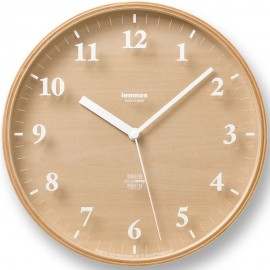 Snow Round Wall Clock 25.4cm