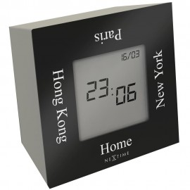 Turn4Time Time Zone Table Clock 7.5cm