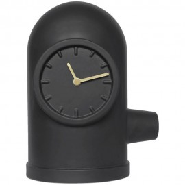 Base Black Table Clock 32cm