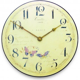 Butterfly Wall Clock 36cm