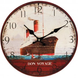 Round Wall Clock Ship Design 30cm