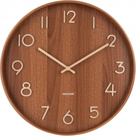 Pure Large Dark Basswood Wall Clock 60cm