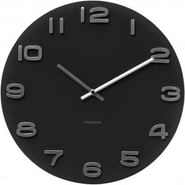 Round Black Wall Clock 35cm