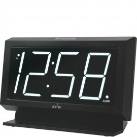 Labatt Black Led Alarm Clock 15cm