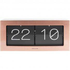 Flip Box Copper Table Clock 37cm