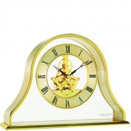 Gold Skeleton Mantel Clock 17cm