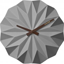 Origami Grey Wall Clock 27cm