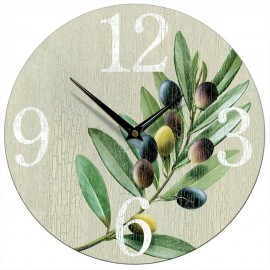 Olive Stone Wall Clock 28.5cm