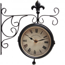 Station Thermometer & Outdoor Wall Clock 38cm