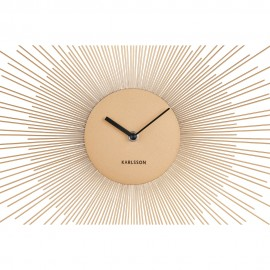 Peony Steel Large Gold Wall Clock 60cm