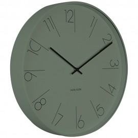 Elegant Numbers Green Wall Clock 40cm